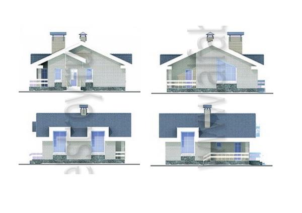 Проект блочного дома №1