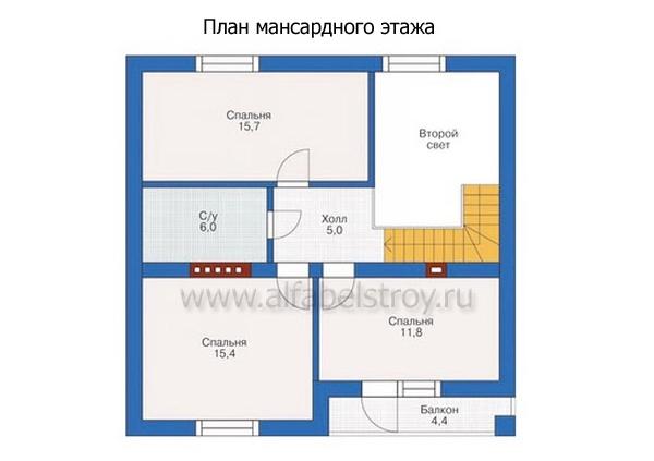 Проект каркасного дома №12