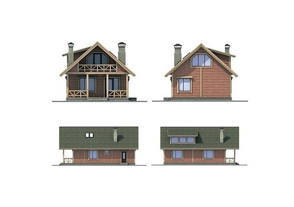 Проект каркасного дома №15