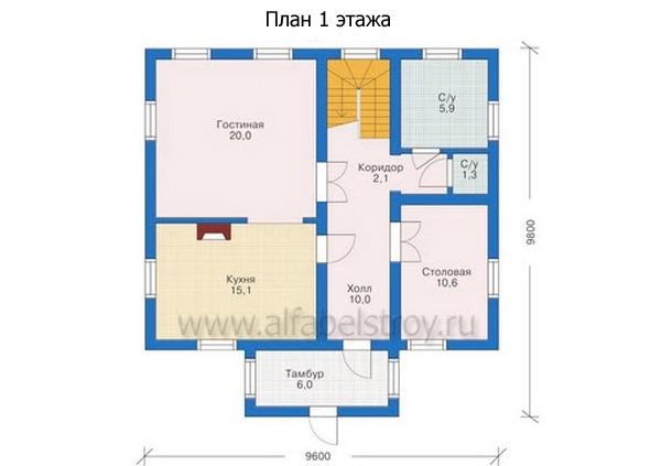 Проект блочного дома №18