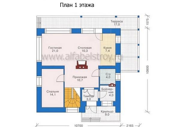 Проект каркасного дома №23