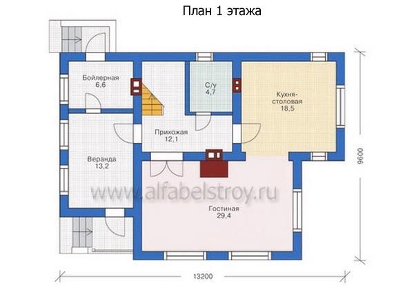 Проект каркасного дома №31