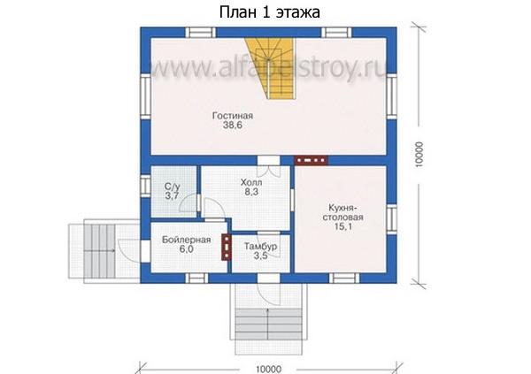 Проект каркасного дома №32