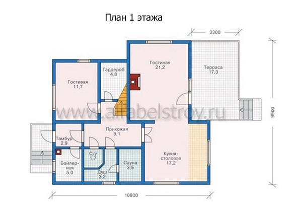 Проект каркасного дома №35