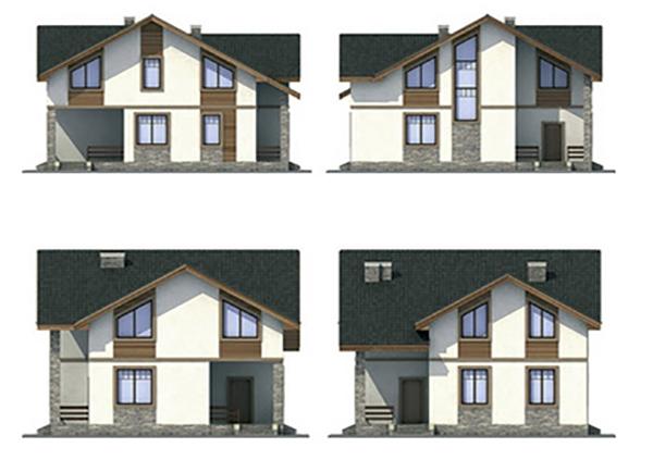 Проект каркасного дома №36
