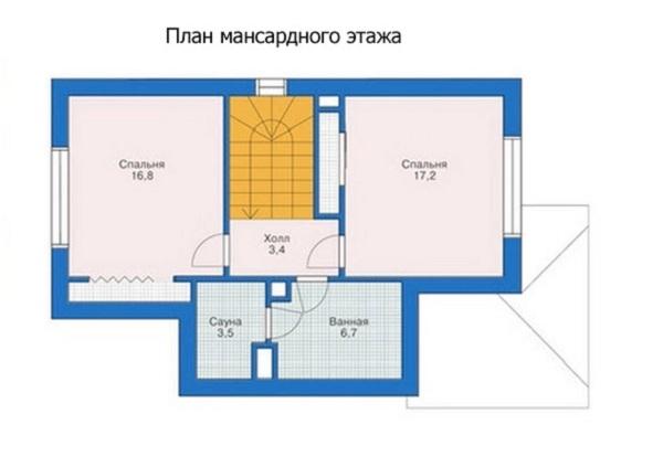 Проект каркасного дома №5