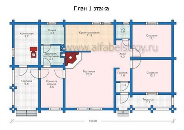 Проект деревянного дома №8