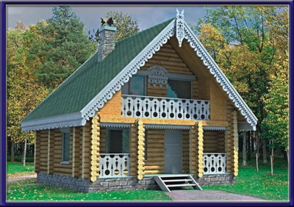 Проект деревянного дома №4