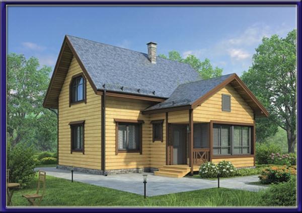 Проект каркасного дома №6