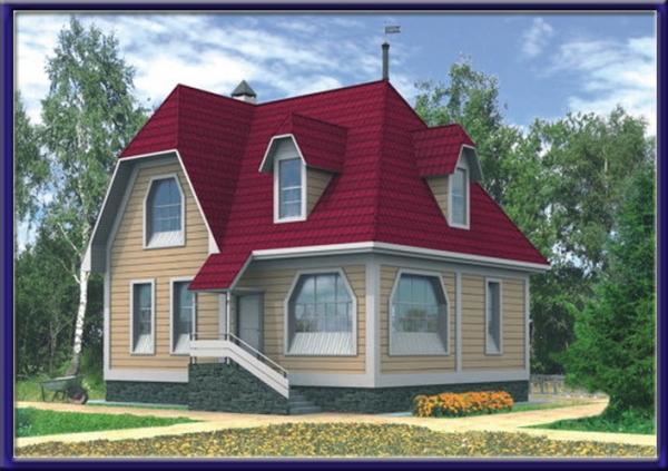 Проект каркасного дома №16
