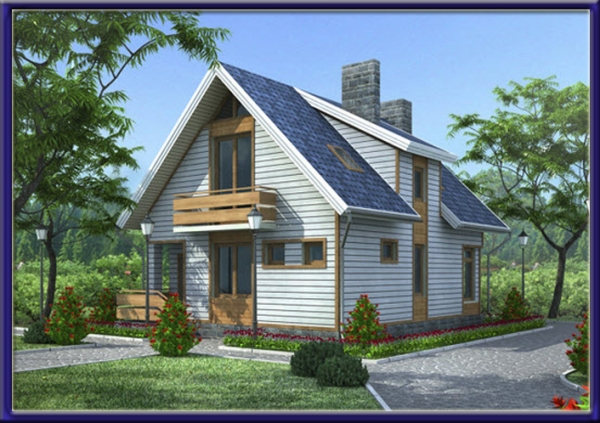 Проект каркасного дома №18