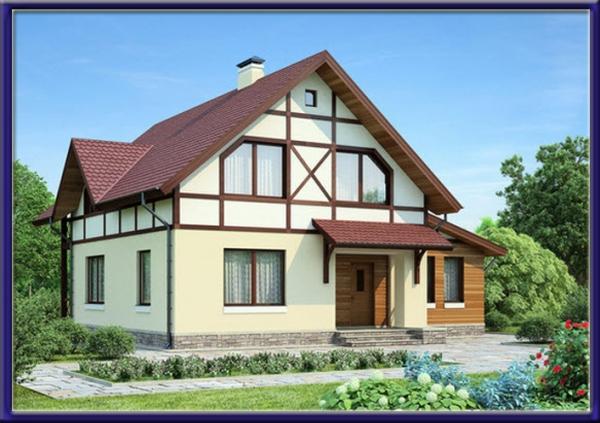 Проект каркасного дома №19
