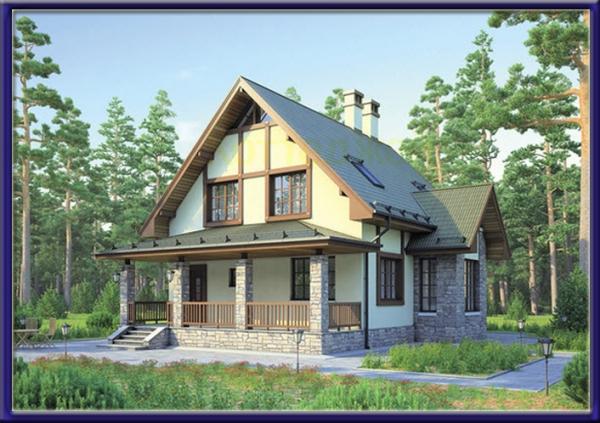 Проект каркасного дома №20