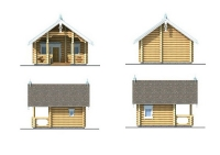 Проект деревянного дома №1