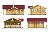 Проект деревянного дома №14