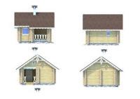 Проект деревянного дома №2