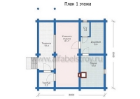 Проект деревянного дома №3